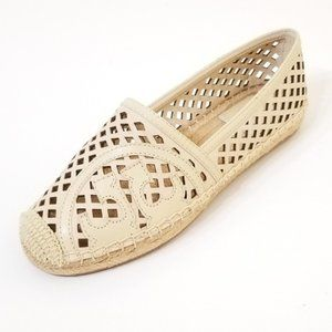 Tory Burch | Thatched Perf Logo Espadrilles NWT